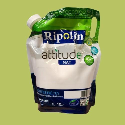 RIPOLIN Peinture Attitude 1L Vert plexi Mat