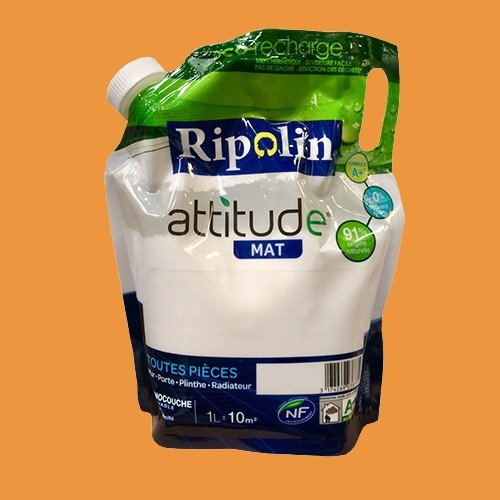 RIPOLIN Peinture Attitude 1L Mangue Mat