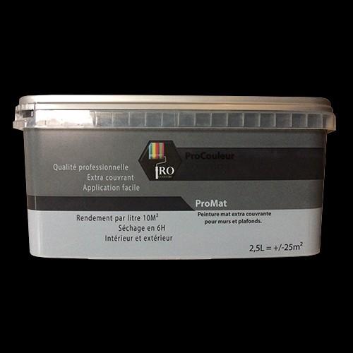 Pro Couleurs Peinture Acrylique Mat 25l Noir Pas Cher En Ligne