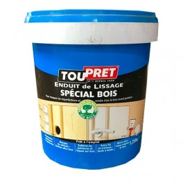 TOUPRET Enduit de lissage Spécial Bois 1,250kgs Blanc