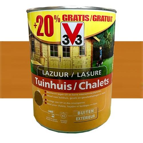 V33 Lasure Chalet Chêne clair