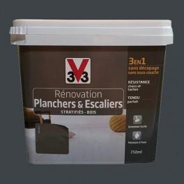 Peinture V33 Rénovation Planchers & Escaliers (Stratifiés-Bois) Gris Zingué
