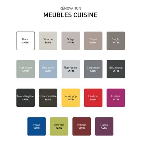 V33 Rénovation Meubles Cuisine (Bois vernis-Mélaminés-Stratifiés) Satin  Gris zingué