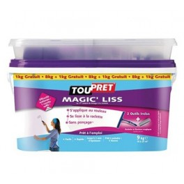 TOUPRET Enduit à Lisser MAGIC'LISS 8kgs + 1kg gratuit