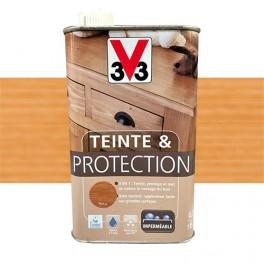 V33 Teinte & Protection 0,5L Chêne moyen