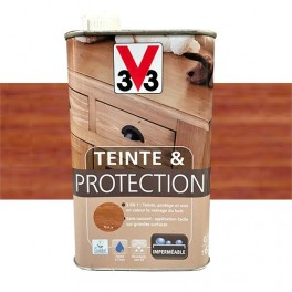 V33 Teinte & Protection 0,5L Acajou