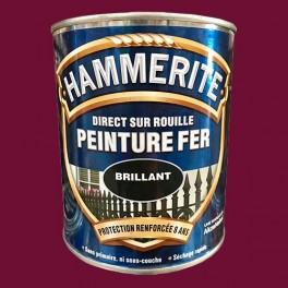 Hammerite Peinture Fer Direct Sur Rouille Rouge Basque Brillant Pas