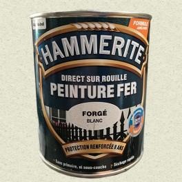 Peinture Fer Hammerite Direct sur Rouille Blanc Forgé