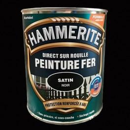 Peinture Fer Hammerite Direct sur Rouille Noir Satin
