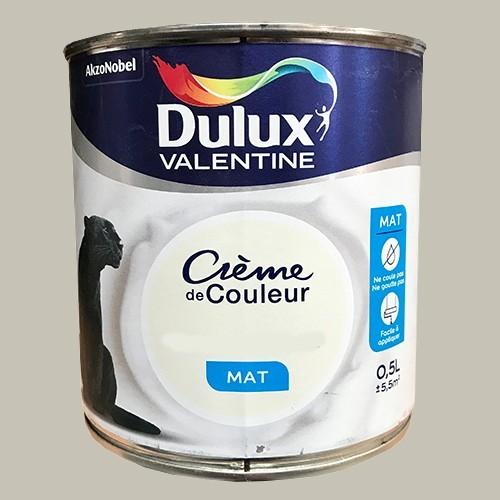 DULUX VALENTINE Peinture acrylique Crème de couleur Béton Gris Mat