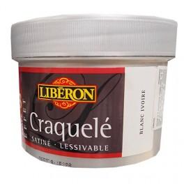 LIBÉRON Peinture Effet Craquelé Blanc Ivoire