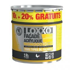 LOXXO Peinture Façade Acrylique 12L Blanc