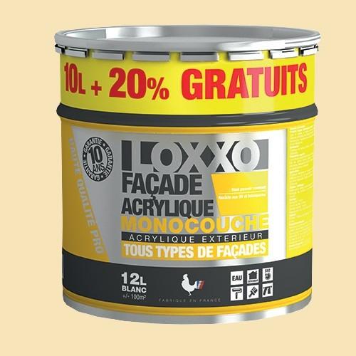 LOXXO Peinture Façade Acrylique 12L Ton Pierre