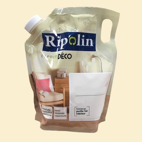 """RIPOLIN Poche de Peinture Acrylique """"Esprit Déco"""" 1L Blanc cassé satin"""