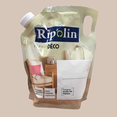 """RIPOLIN Poche de Peinture Acrylique """"Esprit Déco"""" 1L Café au lait satin"""