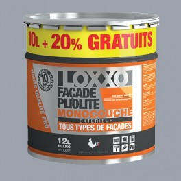 LOXXO Peinture Façade Pliolite 12L Gris ciment RAL 7040