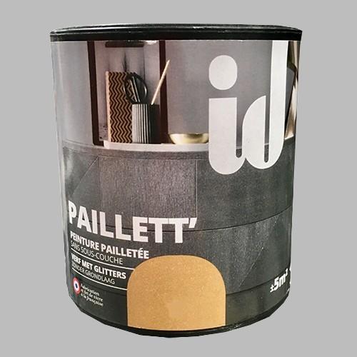 ID Peinture Paillett' Meuble 0,5L Argent