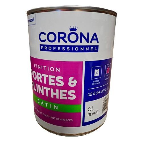 CORONA Professionnel Portes & Plinthes Finition Satin 3L