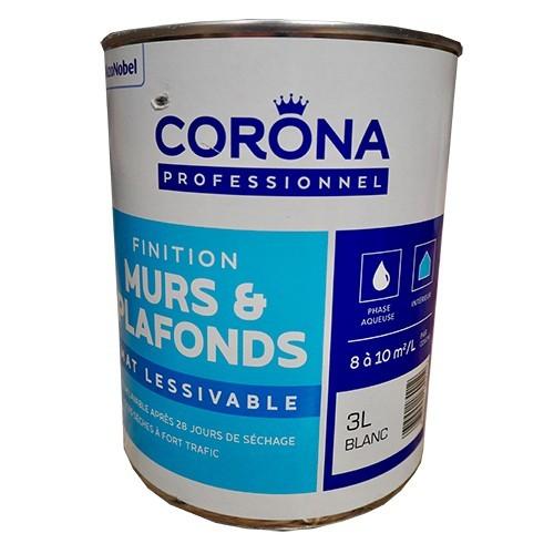 Corona Professionnel Murs Plafonds Mat Lessivable 3l Pas Cher En Ligne