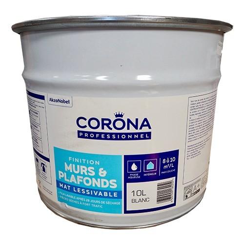 CORONA Professionnel Murs & Plafonds Mat Lessivable 10L