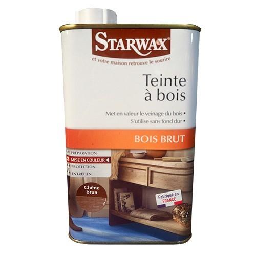 STARWAX Teinte à bois Bois Brut 500ml Chêne Brun
