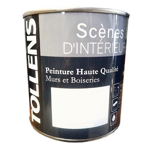 """TOLLENS Peinture acrylique """"Scènes d'intérieur"""" Satin Blanc"""