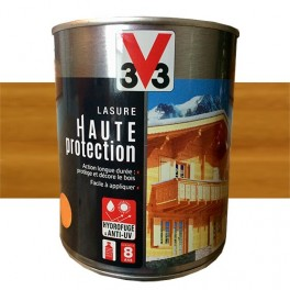 V33 Lasure Haute Protection 8ans Chêne doré