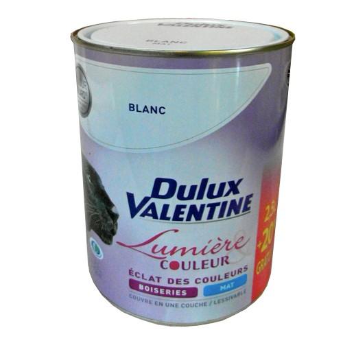 dulux valentine lumi re couleurs blanc mat 3l pas cher en ligne. Black Bedroom Furniture Sets. Home Design Ideas