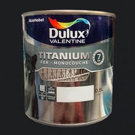 DULUX VALENTINE Peinture fer TITANIUM Noir mat