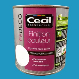 CECIL PE DECO Finition Couleur Bleu piscine Satin