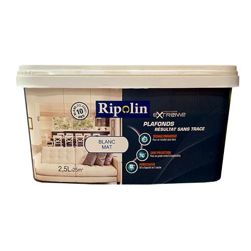 RIPOLIN Peinture Protection Extrême Plafonds Résultat sans trace Blanc Mat 2,5L pas cher en ligne