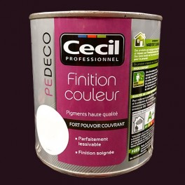 CECIL PE DECO Finition Couleur Chocolat Mat