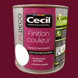 CECIL PE DECO Finition Couleur Rouge velours Mat