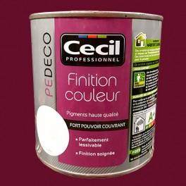 CECIL PE DECO Finition Couleur Rouge velours Mat