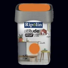RIPOLIN Peinture Attitude Récup' Noir satin 0,75L