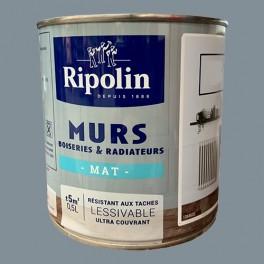 RIPOLIN Peinture Murs, Boiseries & Radiateurs Gris Pragues Mat