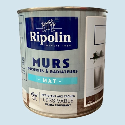 RIPOLIN Peinture Murs, Boiseries & Radiateurs Bleu niolon Mat