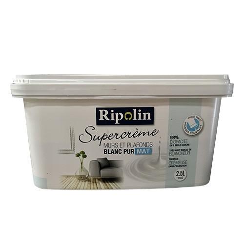 RIPOLIN Peinture Supercrème Murs & Plafonds Blanc Mat