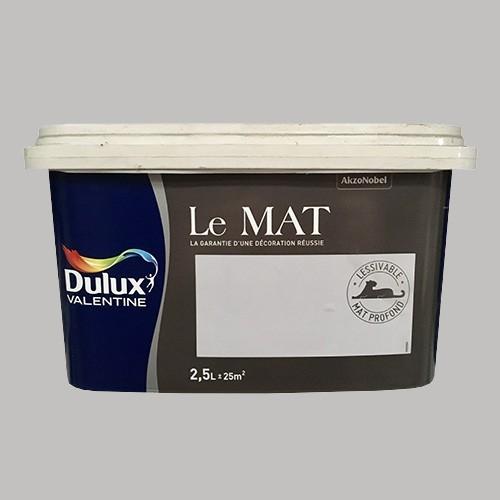 Peinture DULUX VALENTINE Le Mat Flocon 2,5L