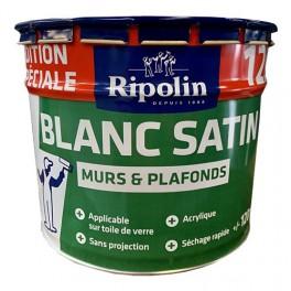 Ripolin Peinture Blanc Satin Murs Plafonds 12l