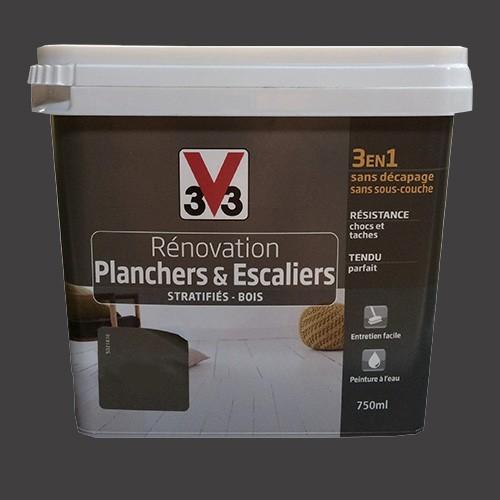 Peinture V33 Rénovation Planchers & Escaliers (Stratifiés-Bois) Gris platinium
