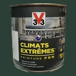 """V33 Peinture Fer """"Climats Extrêmes"""" Vert omorika Brillant"""