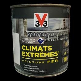 "V33 Peinture Fer ""Climats Extrêmes"" Noir Brillant"