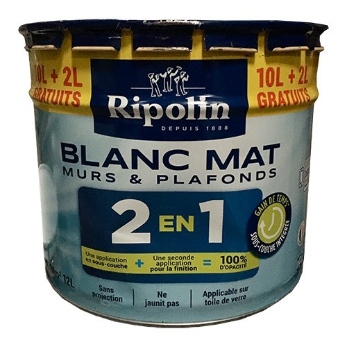 Ripolin Peinture Murs Et Plafonds 2en1 Blanc Mat Pas Cher En Ligne