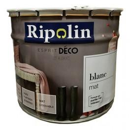 RIPOLIN PeintureEsprit Déco Blanc Mat 10L