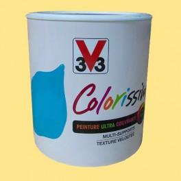 Peinture V33 Colorissim Satin Jaune Vichy n°85