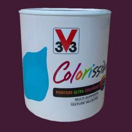 Peinture V33 Colorissim Satin Chic aubergine n°86