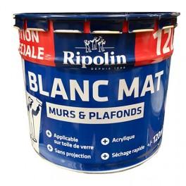 Ripolin Peinture Blanc Mat Murs Plafonds 12l
