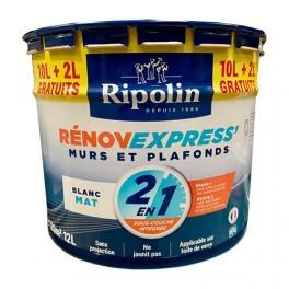 RIPOLIN Peinture Rénov Express' 2 en 1 (Sous-couche Intégrée) Mat 12L