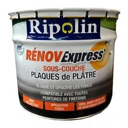 RIPOLIN Sous-Couche Rénov Express' Plaques de plâtre 10L